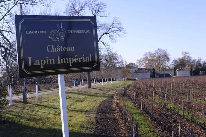 Château Larteau, rebaptiséLapin impérial par son propriétaire chinois,l'entrepreneur Chi Keung Tong.