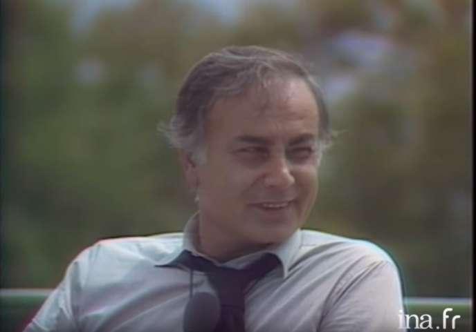 Le comédien François Perrot sur TF1, le 25 mai 1980.