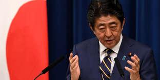 Le premier ministre japonais, Shinzo Abe, lors d'une conférence de presse, à Tokyo, le 10 décembre 2018.