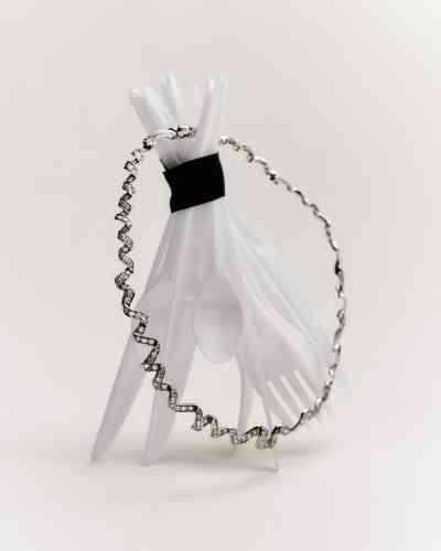 Collier Archi Dior, Diorama,or blanc et diamants, Dior Joaillerie.
