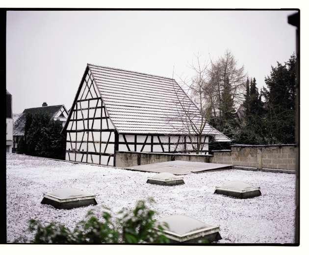 Une maison de style traditionnel à Kandel. Cette ville du Land de Rhénanie-Palatinat compte environ 9000habitants.