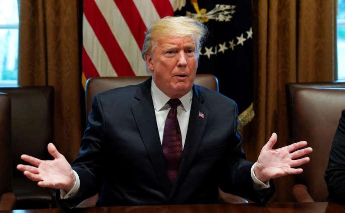 Donald Trump à la Maison Blanche, le 23 janvier.