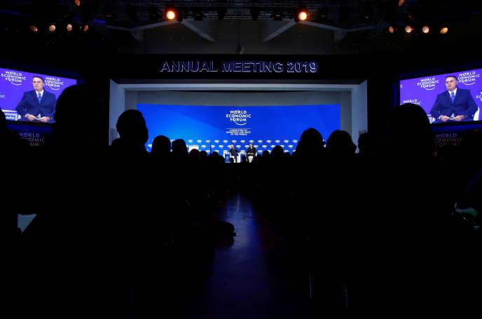 Forum économique mondial à Davos, le 22 janvier.