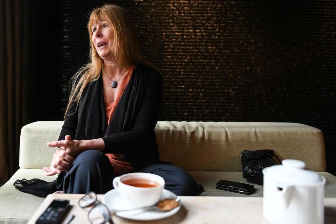 La journaliste Clare Rewcastle Brown, en mai 2018 àKuala Lumpur.