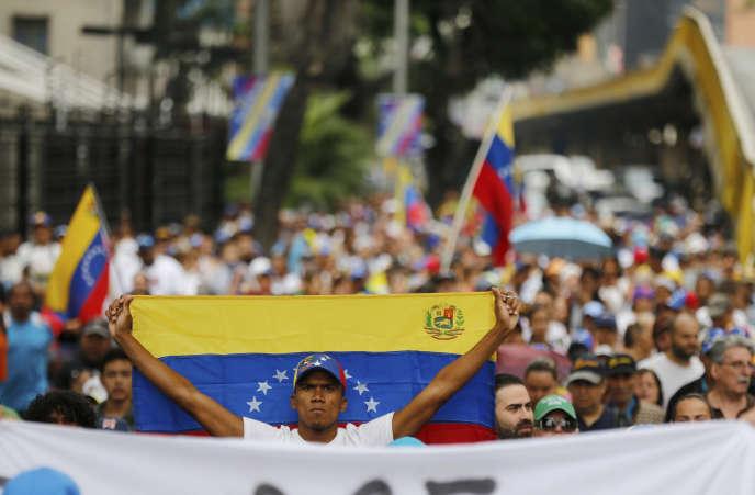 Lors de la dernière manifestation de l'opposition, le 23 janvier à Caracas.
