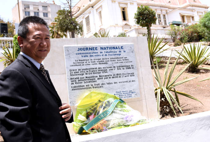 Huang Xia à Dakar, lorsqu'il était ambassadeur de Chine au Sénégal, en avril 2015.