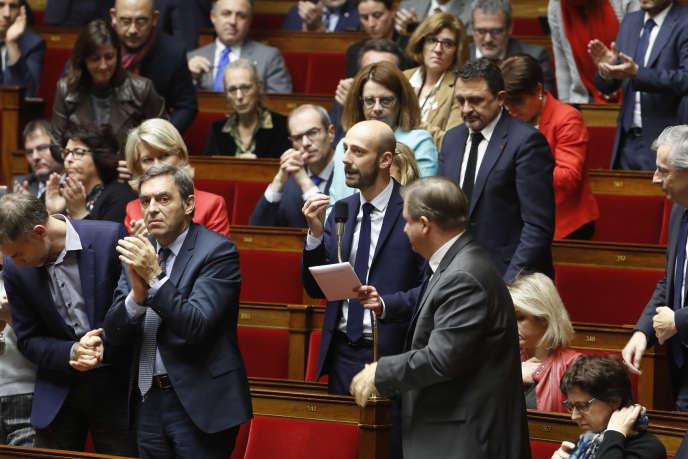 Le délégué général de La République en marche (LRM), Stanislas Guerini, à l'Assemblée nationale, le 4 décembre 2018.