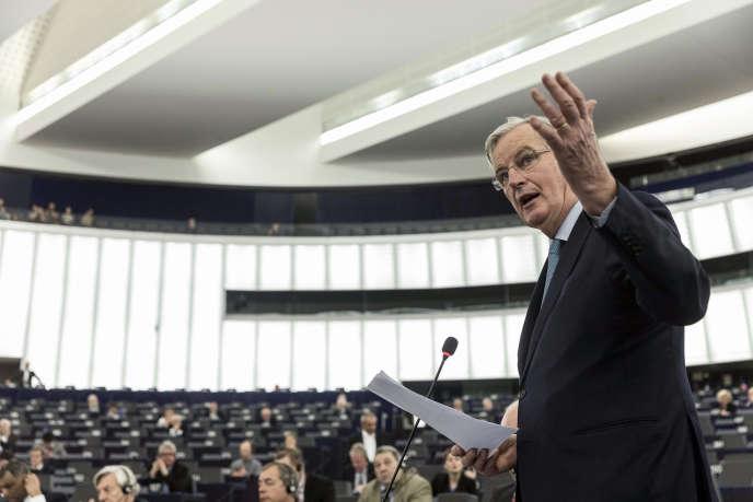 Michel Barnier, le négociateur en chef du Brexit pour l'UE, lors d'un débat au Parlement européen, à Strasbourg, le 16 janvier.