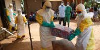 A Beni (République démocratique du Congo), cercueil d'un bébé dont la mort est probablement due au virus Ebola.