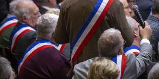 Emmanuel Macron, président de la république participe à l'acte deux du Grand débat suite à la crise des gilets jaunes à Souillac, vendredi 18 janvier
