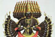 Le démon Ravana, héros du «Ramayana» (lithographie du XIXe siècle).