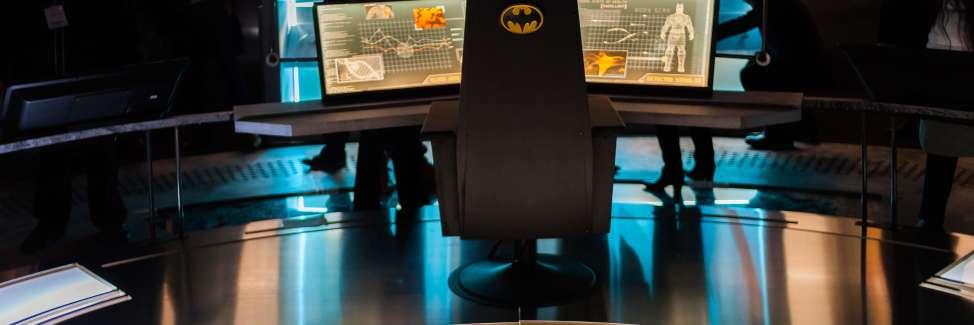 Vue de l'exposition consacrée à Batman au Festival international de la bande dessinée d'Angoulême, le 23 janvier.