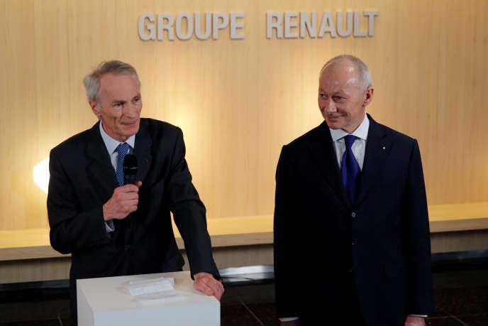 Jean-Dominique Senard et Thierry Bollore, le 24 janvier.