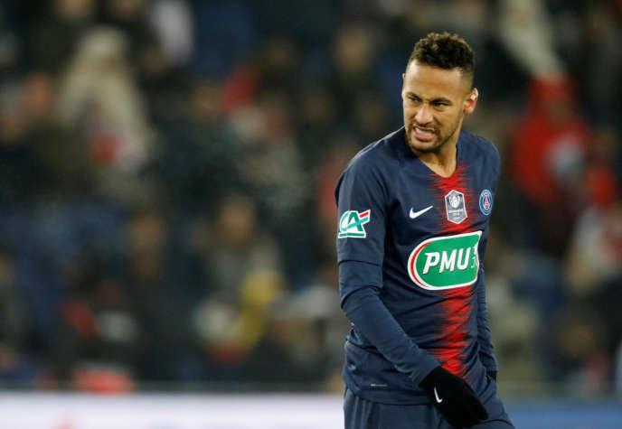 Neymar s'est blessé lors d'un match de Coupe de France contre Strasbourg, le 23 janvier.