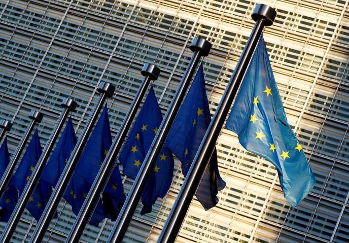 Devant les bureaux de la Commission européenne, à Bruxelles, en novembre 2018.