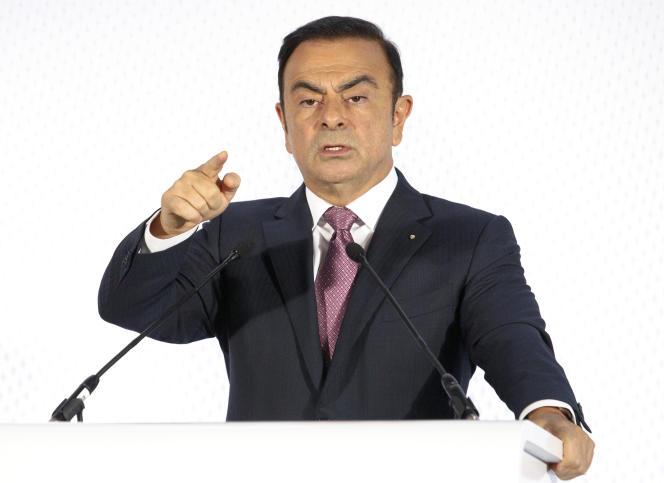 Carlos Ghosn, le PDG déchu de Renault-Nissan, en 2015.