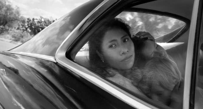 La Mexicaine Yalitza Aparicio, nommée aux Oscars dans la catégorie meilleure actrice pour son rôle dans « Roma », d'Alfonso Cuaron, produit par Netflix.