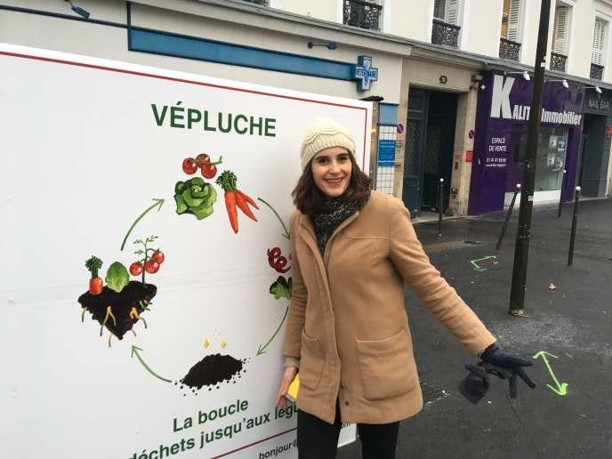 Clara Duchalet, 25 ans, fondatrice de lasociété Vépluche, à Boulogne-Billancourt(Hauts-de-Seine).