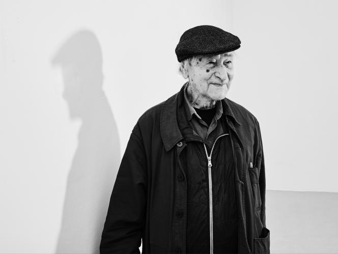 Jonas Mekas à Paris en 2018.