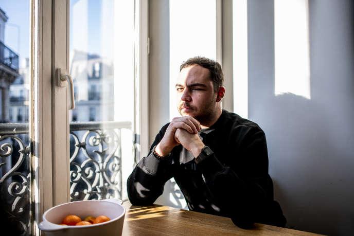 Antoine Coste, chez lui à Paris, le 21janvier.
