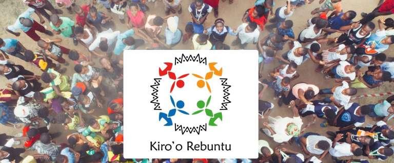 La page d'accueil de la plate-forme Kiro'o Rebuntu.