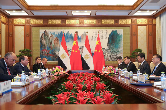 Discussions bilatérales entre l'Egypte et la Chine, à Pékin, le 2septembre 2018.