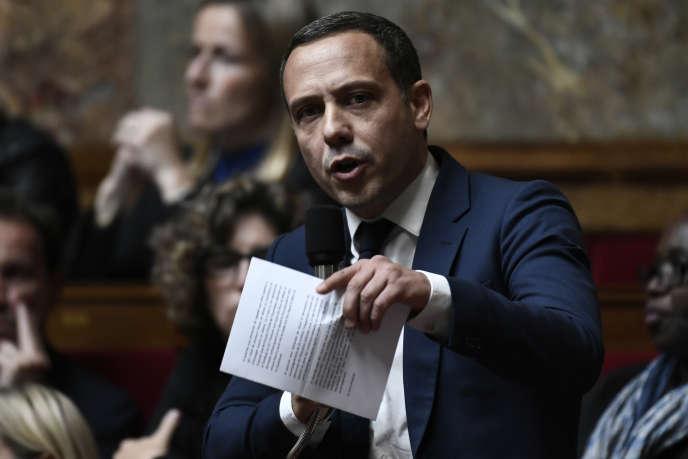 Adrien Taquet, à l'Assemblée nationale, le16octobre2018.