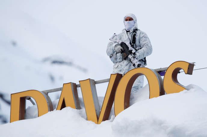 Au Forum économique mondial de Davos, en Suisse, le 21 janvier.
