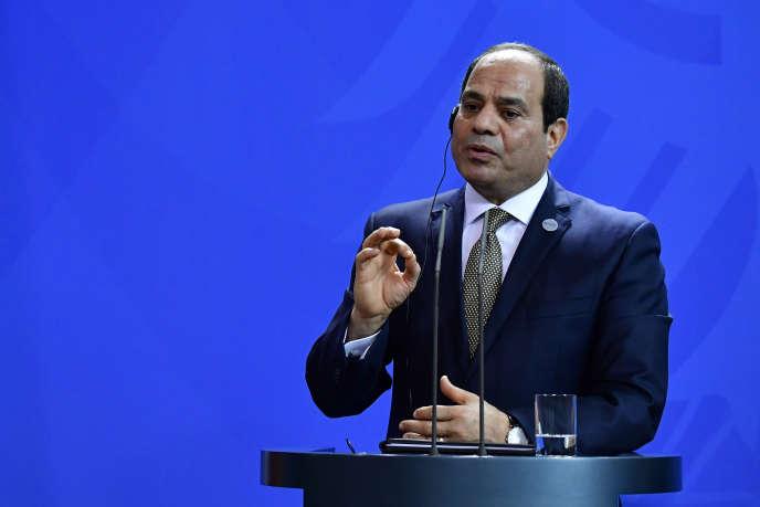 Le président égyptien Abdel Fattah Al-Sissi, à Berlin, le 30 octobre 2018.