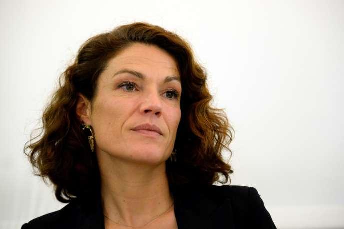 Chantal Jouanno alors sénatrice et candidate UDI aux élections régionales en Ile-de-France, à Paris, le 28 octobre 2015.