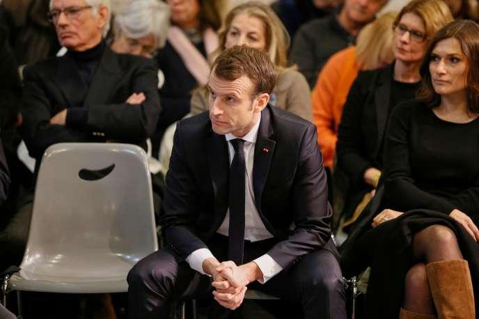 Emmanuel Macron àBourg-de-Péage, le 24 janvier 2019.