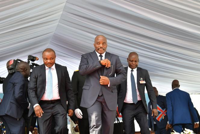 L'ancien président de la RDC, Joseph Kabila, après l'investiture de son successeur, Felix Tshisekedi, à Kinshasa, le 24 janvier.