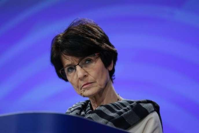 Marianne Thyssen, la commissaire européenne à l'emploi,le 7 mars 2018 à Bruxelles.