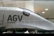 Un modèle d'AGV d'Alstom, le 4 mai 2017 à Saint-Ouen (Seine-Saint-Denis).