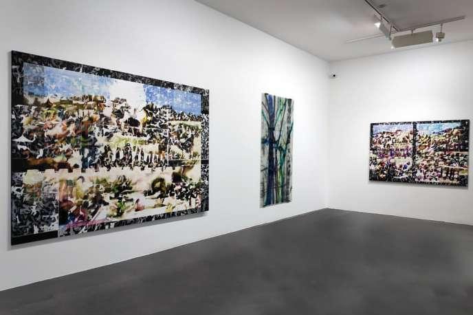 Vue de l'exposition« Là-bas… », de Carole Benzaken, à la galerie Nathalie Obadia (Paris 4e).