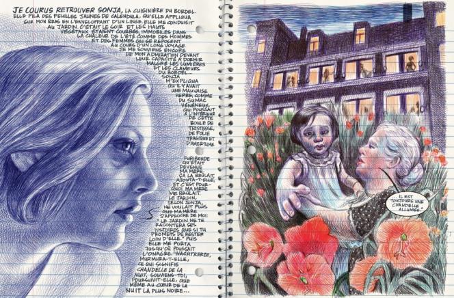 Deux pages extraites de la bandedessinée«Moi, ce que j'aime,c'estles monstres», parEmilFerris.