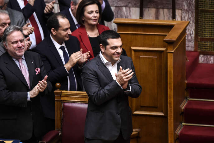 Alexis Tsipras, le 25 janvier 2018 au Parlement grec.