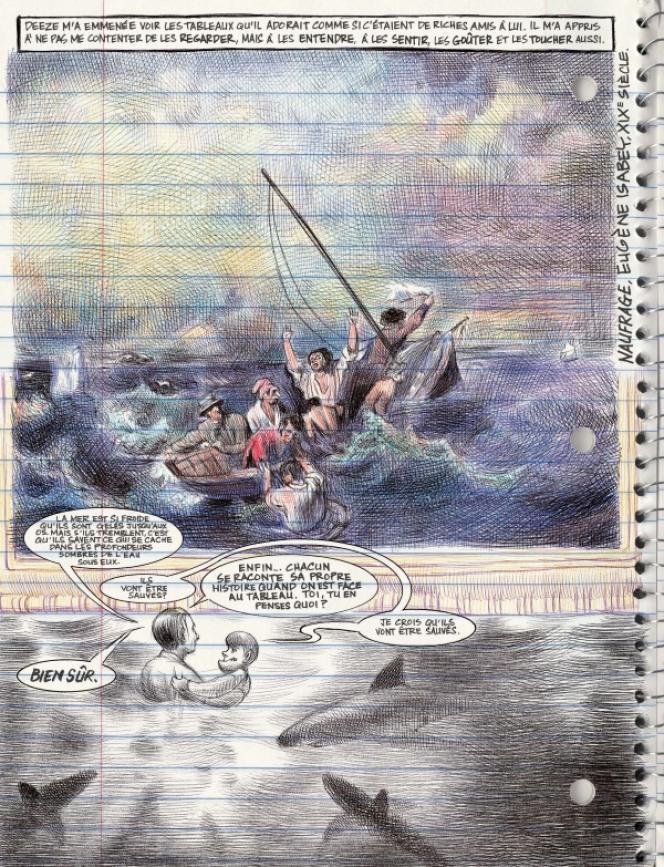 Une page de la bandedessinée«Moi, ce que j'aime,c'estles monstres», parEmilFerris.