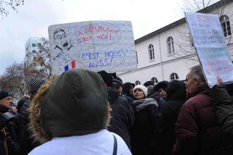 Dans le cortège de la «Marche républicaine des libertés» le 27 janvier à Paris.