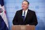Le secrétaire d'Etat américain, Mike Pompeo, à sa sortie de la réunion du Conseil de sécurité de l'ONU à New York, le 26 janvier.