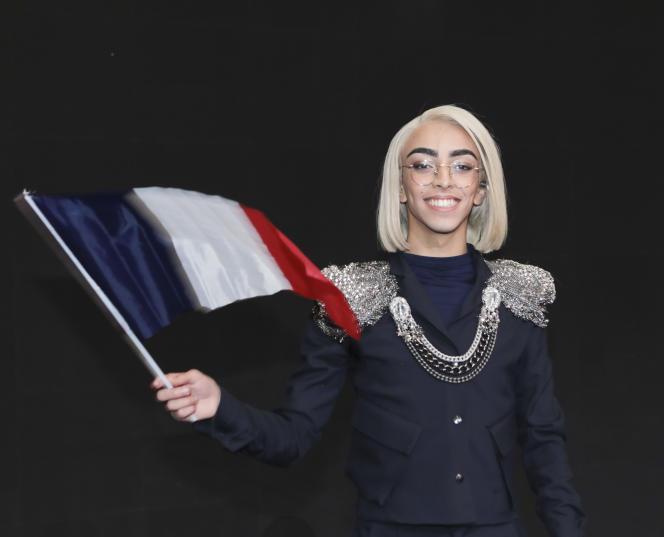 Le chanteur Bilal Hassani le 26 janvier 2019, à Paris.