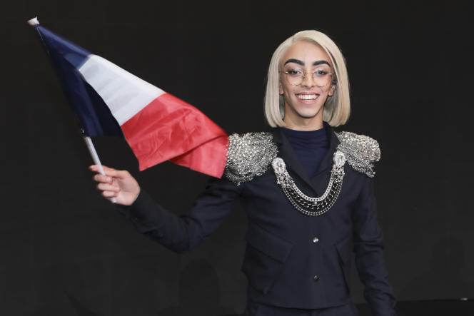 Le chanteur etyoutoubeurBilalHassaniaprès la finale de Destination Eurovision qu'il a remportée, le 26 janvier.