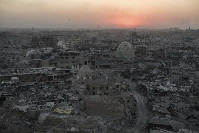 La vieille ville de Mossoul, en Irak, où s'était réfugié un dernier carré de djihadistes dont des Français à la fin de la bataille pour la reprise de la ville, le 11 juillet 2017.