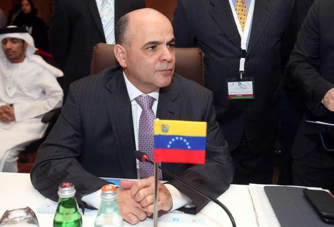 Manuel Quevedo, le ministre du pétrole vénézuelien, à Mascate (Oman), le 21 janvier 2018. Il a pris la tête de l'Organisation des pays exportateurs de pétrole (OPEP).
