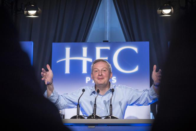 Bruno Le Maire lors d'une conférence à HEC, en février 2016.