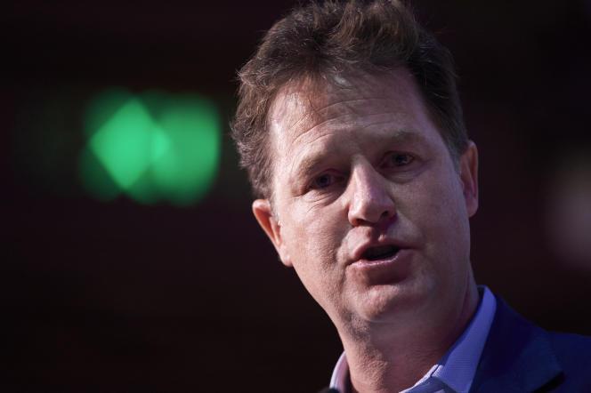 L'ancien leader du parti libéral démocrate britannique Nick Clegg (ici en mai 2017), aujourd'hui à la têtedes affaires publiques de Facebook.