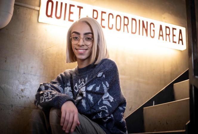 Bilal Hassani, le chanteur qui va représenter la France à l'Eurovision, le 28 janvier 2019 à Paris.