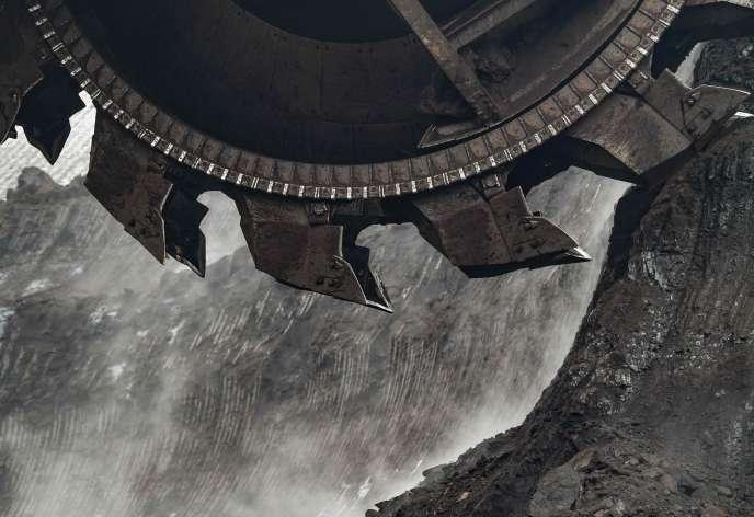 Une mine de lignite à ciel ouvert à Welzow, dans l'est de l'Allemagne, le 25 janvier.
