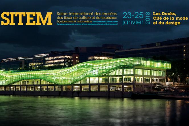 L'affiche du Salon professionnel international des musées (Sitem), dont l'édition 2019 s'est tenue du 22 au 24 janvier à Paris.