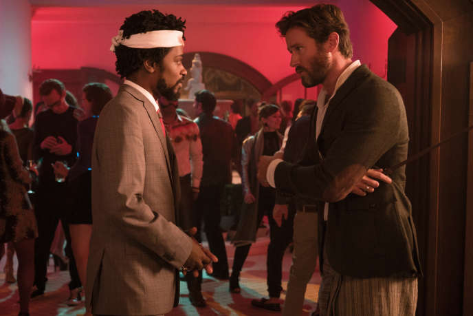 Lakeith Stanfield (Cassius Green) et Armie Hammer (Steve Lift) dans«Sorry to Bother You», de Boots Riley.